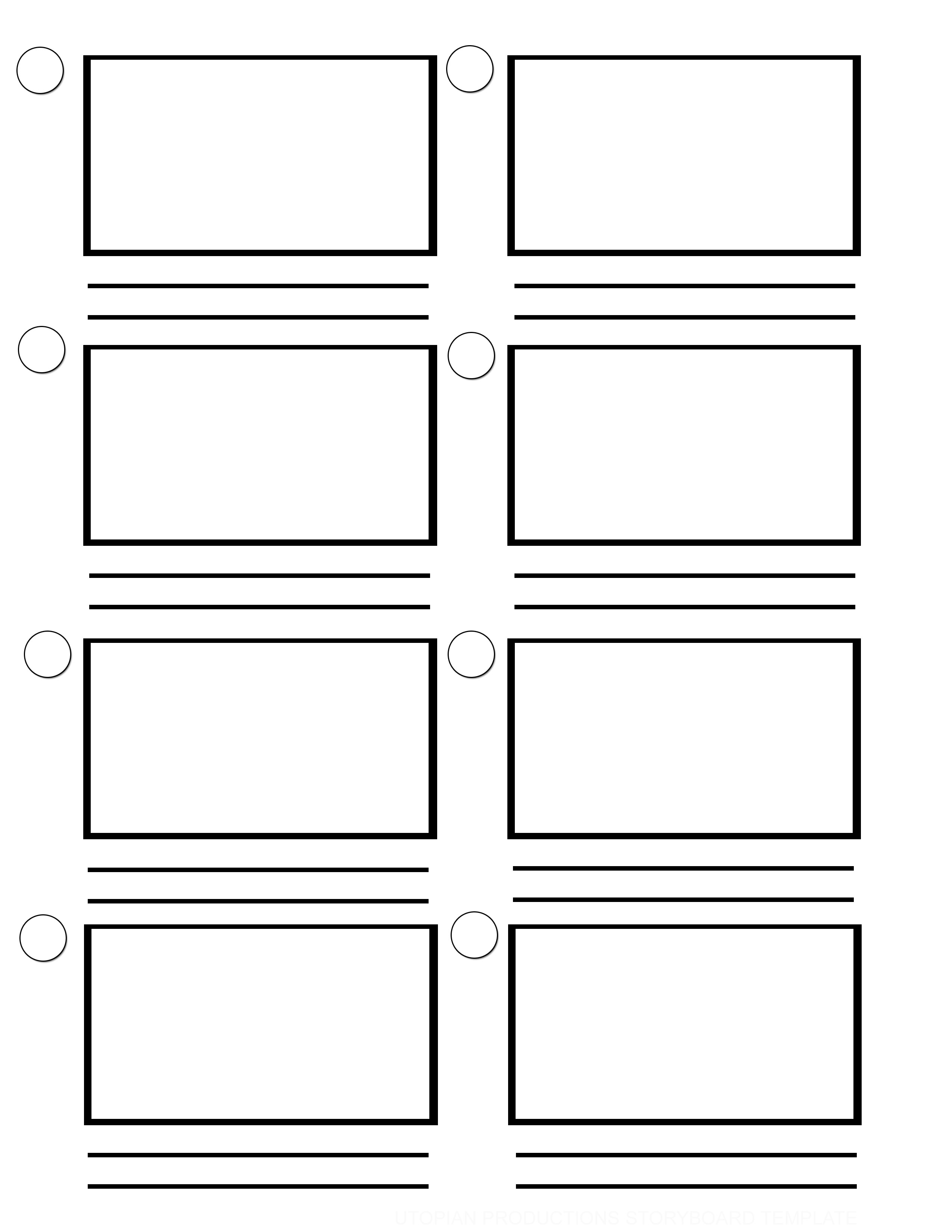 Story board templates for Story layout